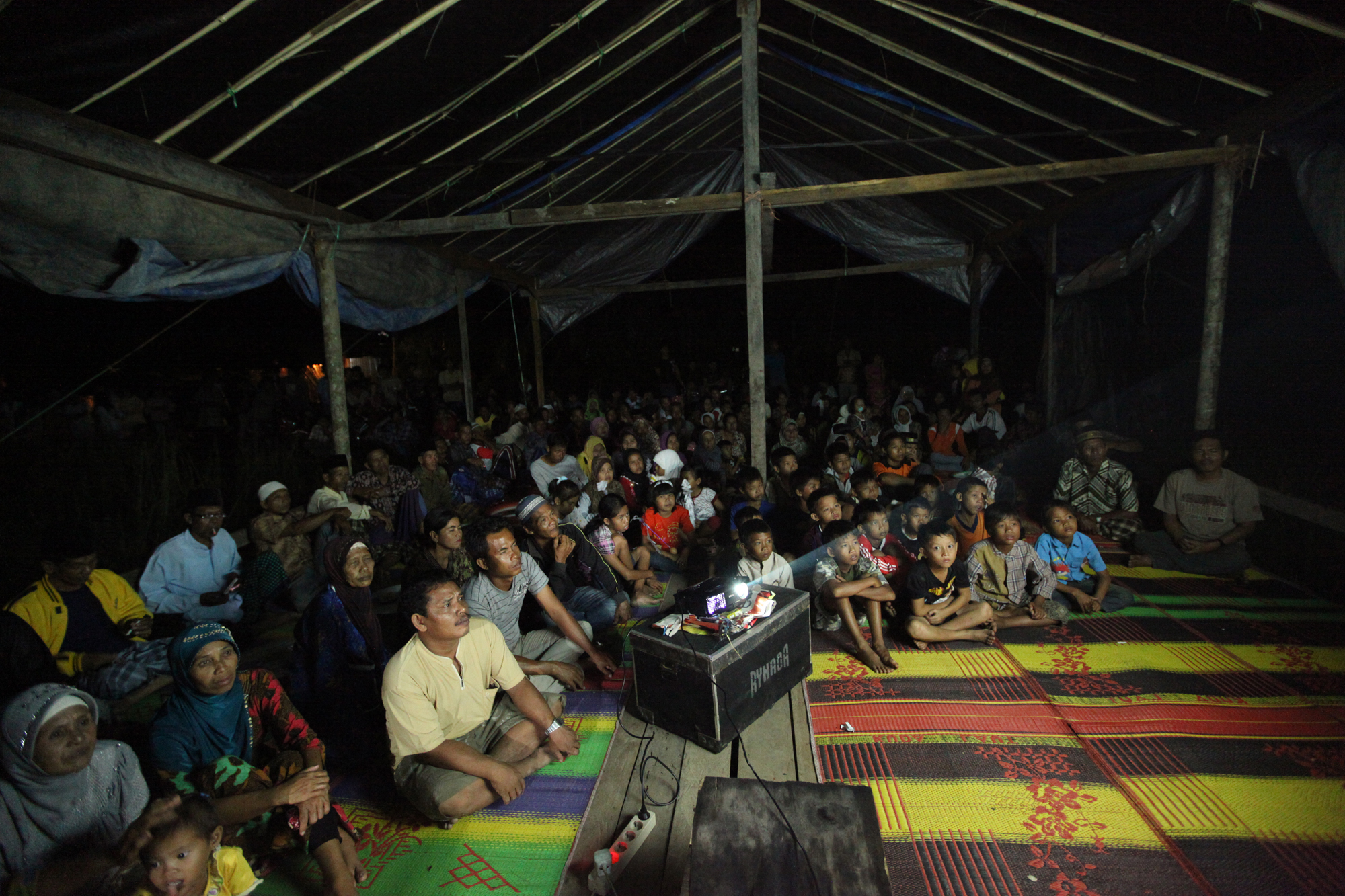Community-screening in Senyerang